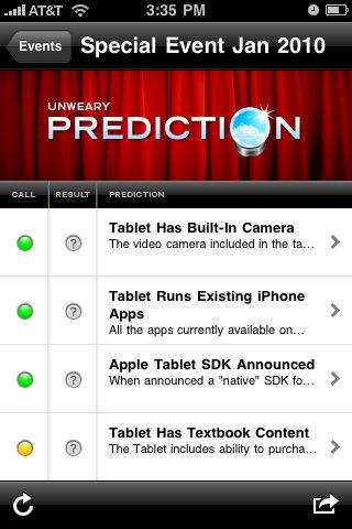 Prediction iPhone App